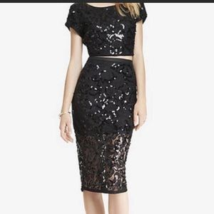 NWT Sequin Two-Piece Express Dress